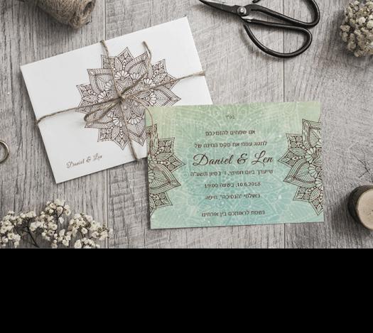 הזמנות לחתונה מנדלות
