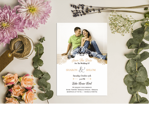 הזמנות לחתונה בעיצוב אישי