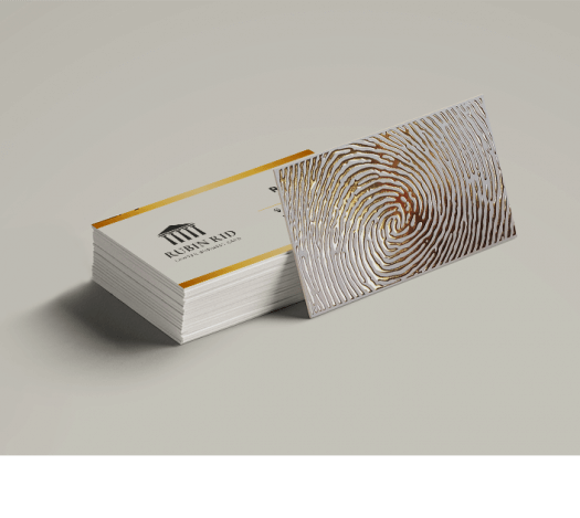 כרטיסי ביקור פויל זהב דיגיטלי