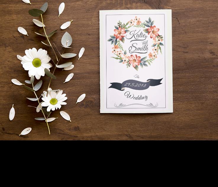 הזמנות לחתונה 2019 – הדפסים ודוגמאות