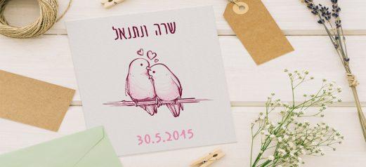 הזמנות לחתונה מאוירות 822
