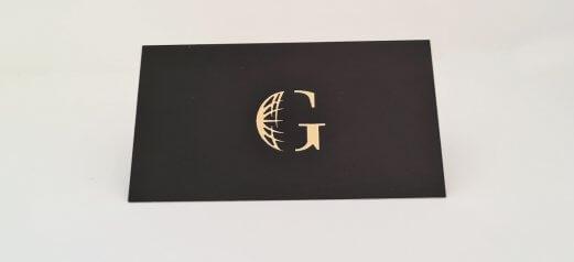 כרטיס ביקור – פויל זהב מובלט 2