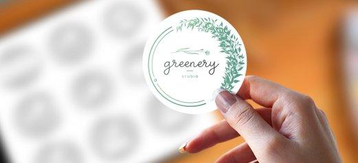 מדבקה עגולה Greenery