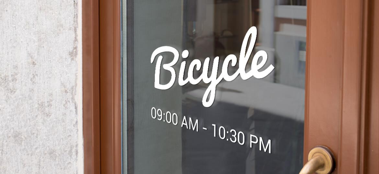 מדבקת לוגו Bycicle לדלת