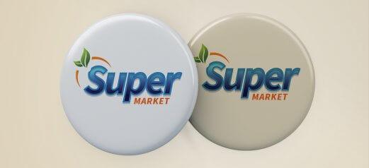 מדבקה בולטת SuperMarket