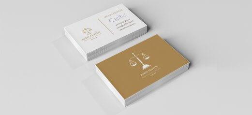 כרטיס ביקור קלאסי עורך דין