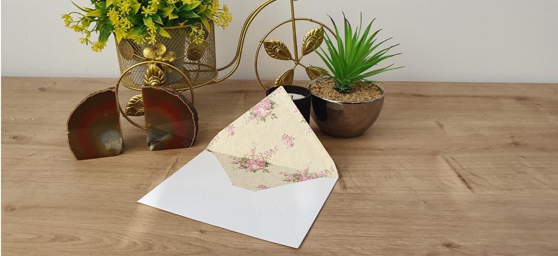 מעטפה צבעונית roses pink