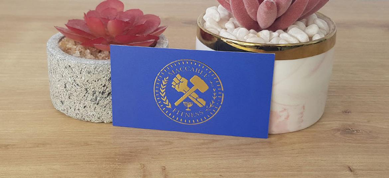 כרטיס ביקור שיפוצים יוקרתי רקע כחול
