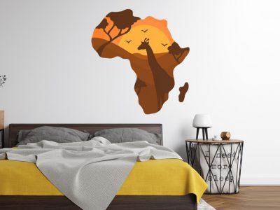 מדבקת קיר מפת אפריקה