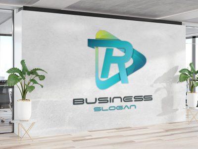 מדבקת קיר לוגו עסקים