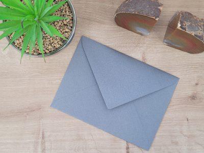 מעטפה צבעונית 12-18 אפור בהיר מנצנץ