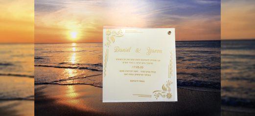הזמנה שקופה ניט עיטורים זהב