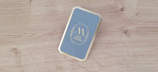 כרטיס ביקור נייר מחוספס הטבעת זהב