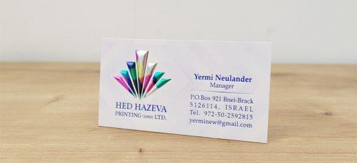 כרטיס ביקור לוגו הבלטה צבעונית