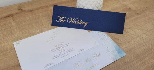 הזמנה ומעטפה יוקרתית פויל זהב