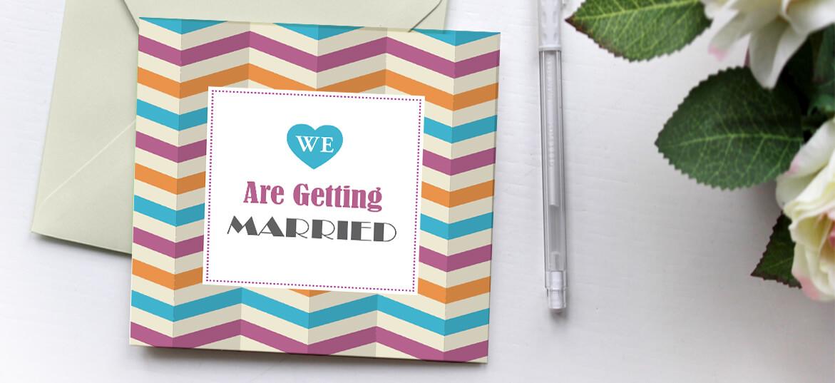 הזמנות לחתונה פסים צבעוניים