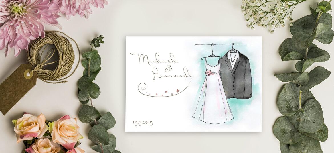 הזמנה חליפת חתן ושמלת כלה