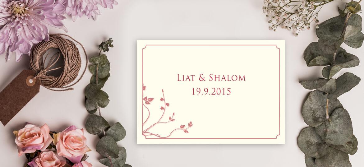 הזמנות לחתונה בשקל מס' 324