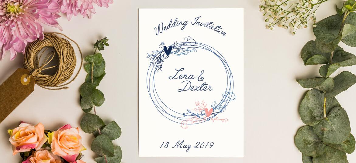 הזמנות לחתונה בשקל 50