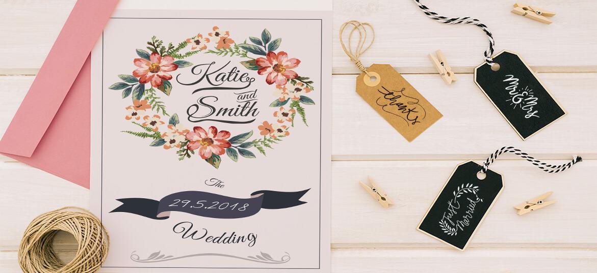 הזמנות חתונה - פרחוניות 1