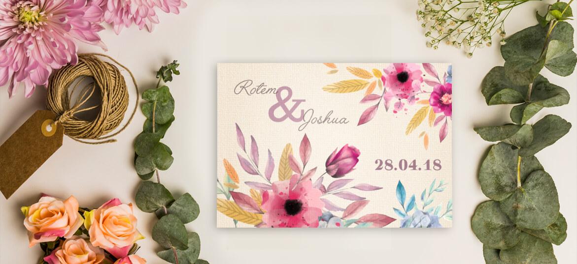 הזמנה פרחים בצבעי פסטל