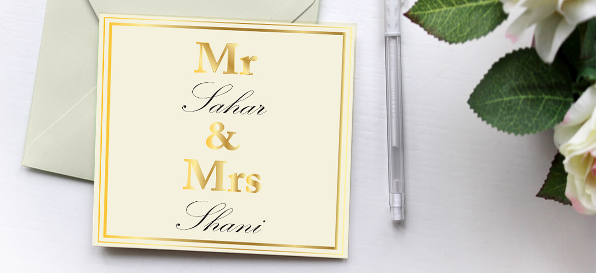 הזמנות חתונה פוייל זהב 22