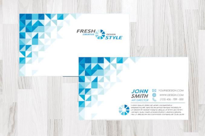 כרטיס ביקור משולשים עסקי