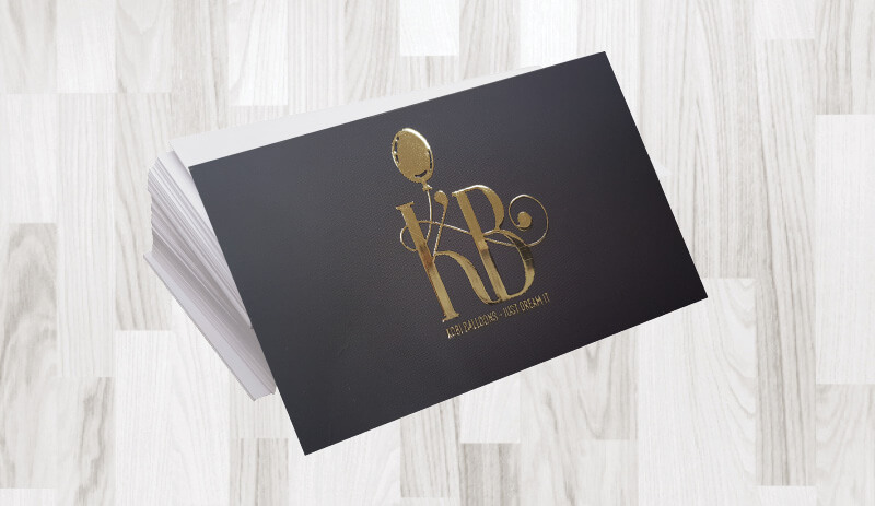 כרטיסי ביקור פויל זהב 41