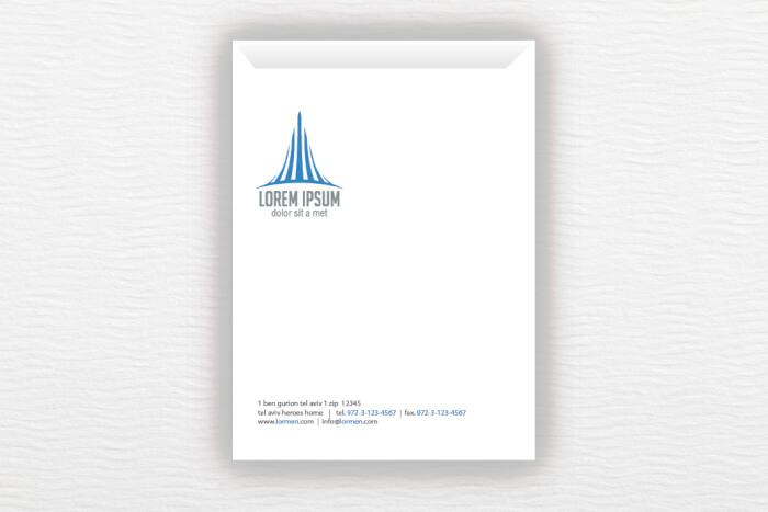 מעטפות A4 עם לוגו