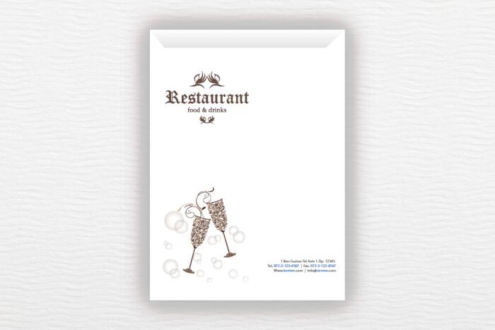 מעטפות Restaurant A4