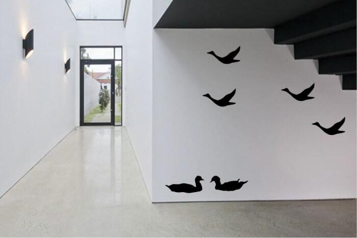 מדבקת קיר אווזים עפים