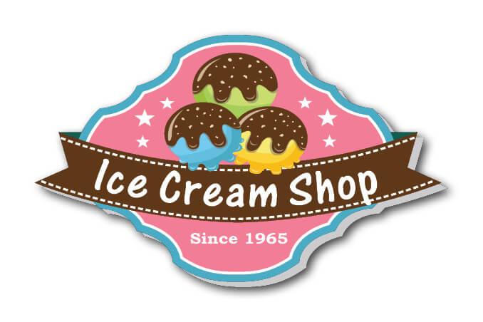 מדבקה בצורת גלידה